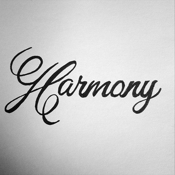 Handlettering - Harmony