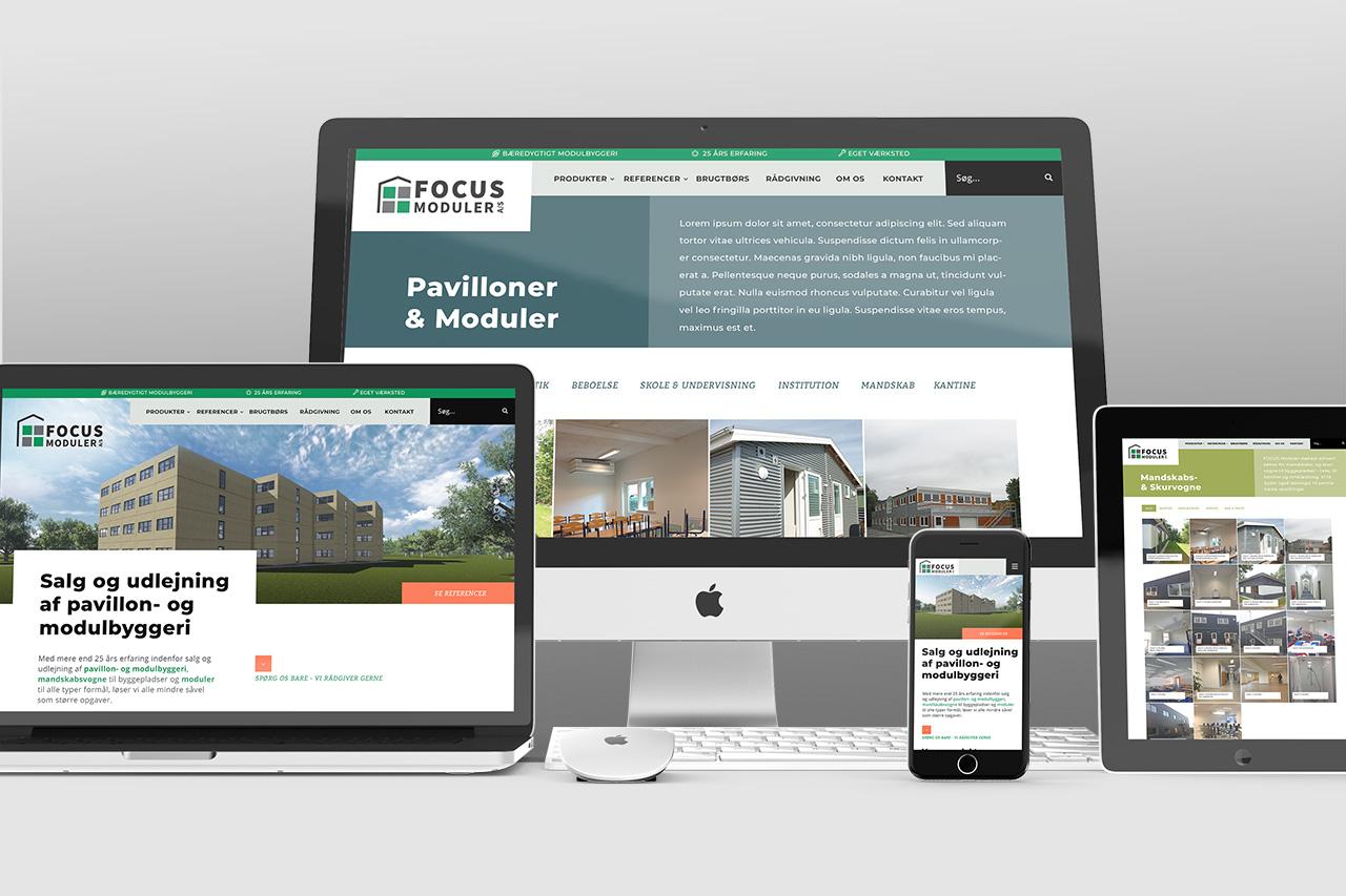 FOCUS Moduler A/S Website